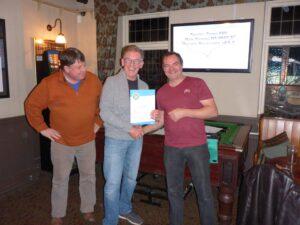 Rider certificate presentation