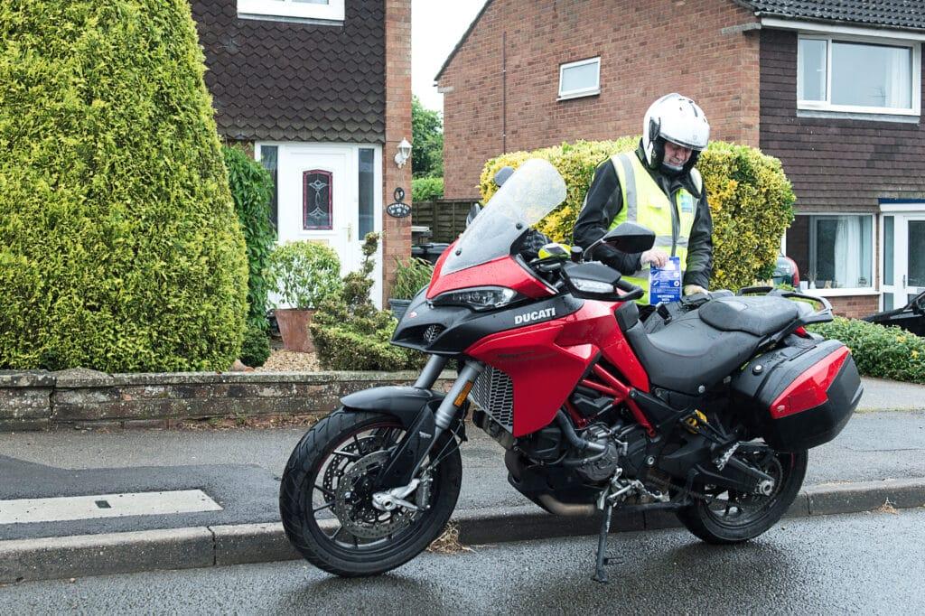 Pharmabike volunteer delivering
