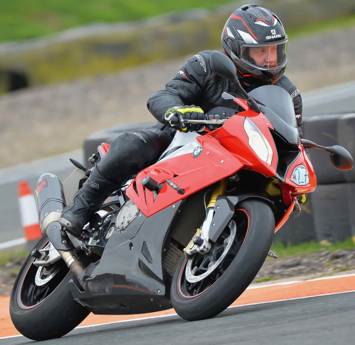 Shows a bike on the track at Blyton